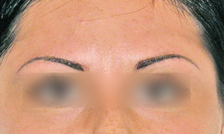 Dermopigmentazione sopracciglia foto dopo